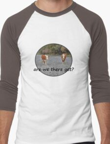 Are we there yet? Wandering Cows Men's Baseball ¾ T-Shirt
