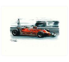 1980  Ferrari 312T5, Monaco GP Art Print