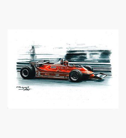 1980  Ferrari 312T5, Monaco GP Photographic Print