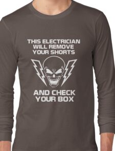 Electrician wire light Long Sleeve T-Shirt