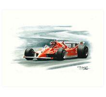 1980  Ferrari 126C. Italy GP Art Print