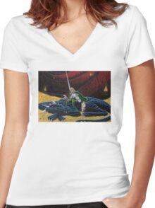 The Hidden Treasure Women's Fitted V-Neck T-Shirt