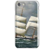Antonio Jacobsen - The Norwegian Bark Friedig At Sea Under Reduced Sail iPhone Case/Skin