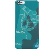 Shipping Forecast Map 1 iPhone Case/Skin