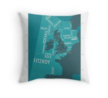Shipping Forecast Map 1 Throw Pillow