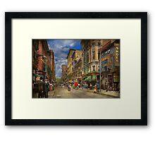 City - Providence RI - Living in the city 1906 Framed Print
