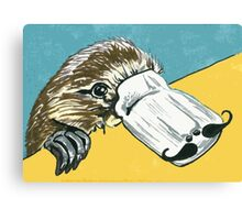 Duck billed platypus with moustache Canvas Print