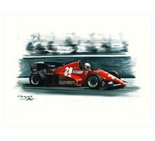 1983  Ferrari 126C2B Art Print