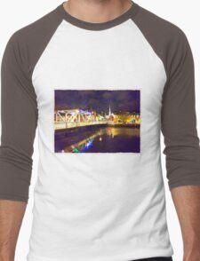 Moonlit night on Merchant´s Quay 002 Men's Baseball ¾ T-Shirt