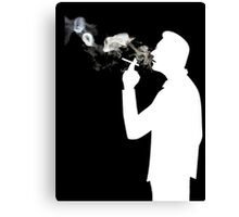 Smoking Man  Canvas Print