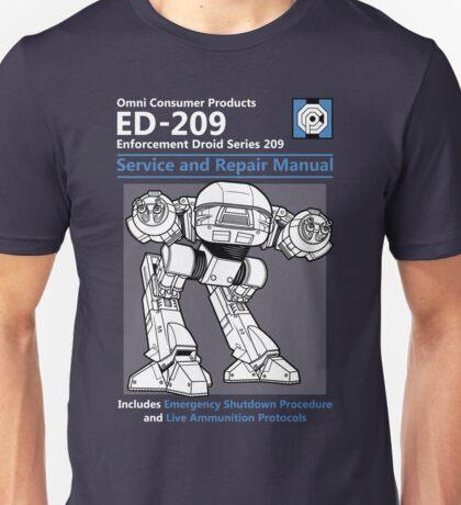 ED-209 Service and Repair Manual Unisex T-Shirt
