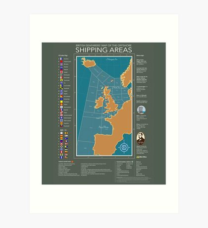 Shipping Forecast of British Art Print