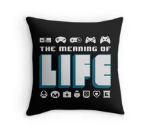 Video Games The Meaning Of Life Throw Pillow