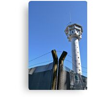 Berlin Wall, Berliner Mauer, Watch tower and barbwire Canvas Print
