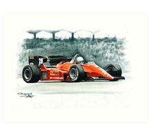 1984  Ferrari 126C4 Art Print