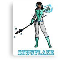 Super Hero SnowFlake Canvas Print