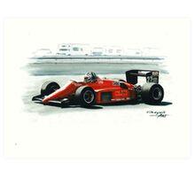 1985  Ferrari 156/85 Art Print