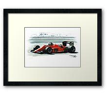 1985  Ferrari 156/85 Framed Print