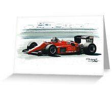 1985  Ferrari 156/85 Greeting Card