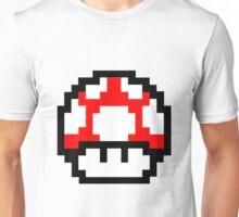 Mario Bros pixel mushroom Unisex T-Shirt