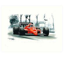 1986  Ferrari F1-86 Art Print