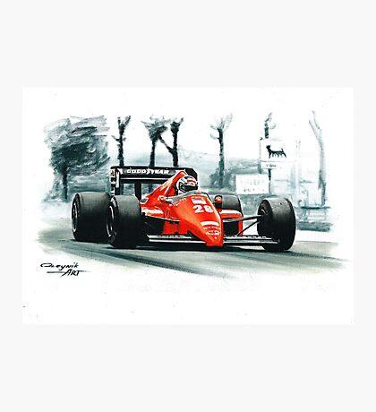 1986  Ferrari F1-86 Photographic Print