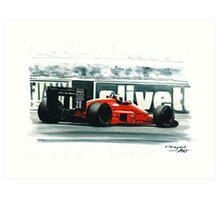 1987  Ferrari F1-87 Art Print