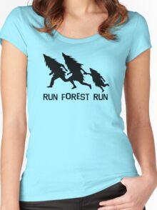 Run Forest Run Women's Fitted Scoop T-Shirt