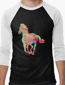 Abstract horse Men's Baseball ¾ T-Shirt