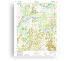 USGS TOPO Map Alabama AL Triana 305237 1964 24000 Canvas Print