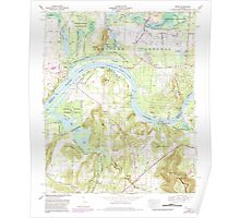USGS TOPO Map Alabama AL Triana 305237 1964 24000 Poster