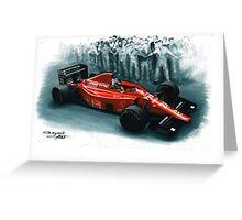 1989  Ferrari F1-89 Greeting Card