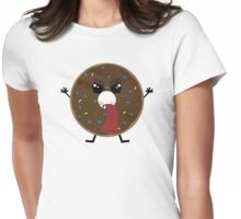 Scary Tasty Donut Womens Fitted T-Shirt
