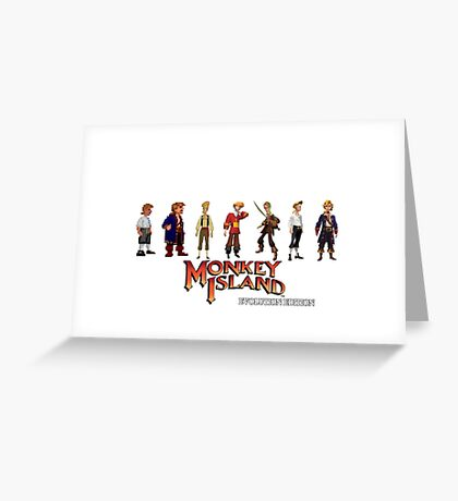 Monkey Island Guybrush - Evolution Edition Greeting Card