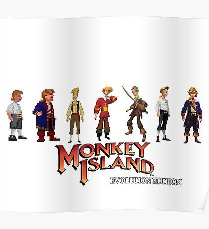 Monkey Island Guybrush - Evolution Edition Poster