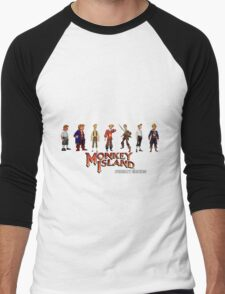 Monkey Island Guybrush - Puberty Edition  Men's Baseball ¾ T-Shirt