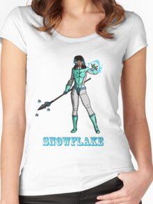 Super Hero SnowFlake Women's Fitted Scoop T-Shirt