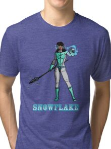 Super Hero SnowFlake Tri-blend T-Shirt
