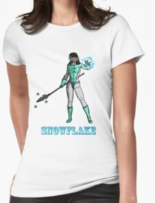 Super Hero SnowFlake Womens Fitted T-Shirt