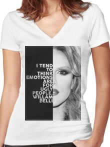 Willam Belli Text Portrait Women's Fitted V-Neck T-Shirt