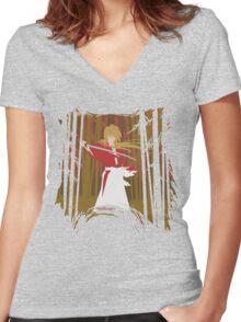 Samurai X - battousai Women's Fitted V-Neck T-Shirt