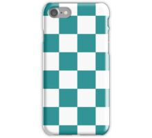 Turquoise Checkered iPhone Case/Skin