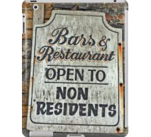 Bar & Restaurant open to Non-Residents... iPad Case/Skin