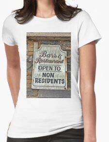 Bar & Restaurant open to Non-Residents... Womens Fitted T-Shirt