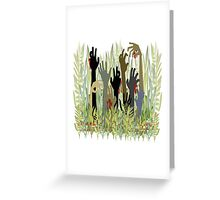 In A Zombie Garden White Greeting Card
