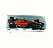 1991 Ferrari F1-91 Art Print