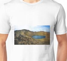 Helvellyn,Striding Edge,Catstye Cam and Red Tarn Unisex T-Shirt