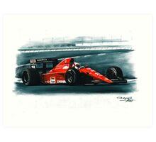 1991 Ferrari F1-91B Art Print