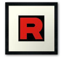 Team Rocket - Logo Framed Print