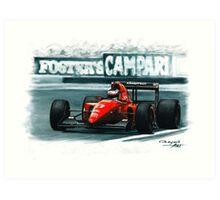 1992 Ferrari F92A Art Print